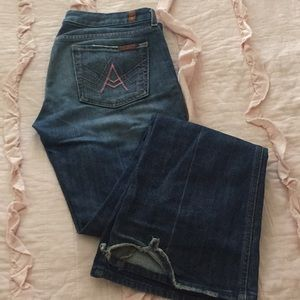 Seven jeans pink embroidered pockets